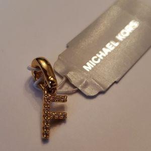 Michael Kors Nwt Gold Crystal Pave F Charm